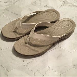 Crocs flip flops 11W